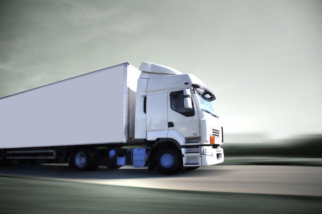 Truck Going Down Highway
